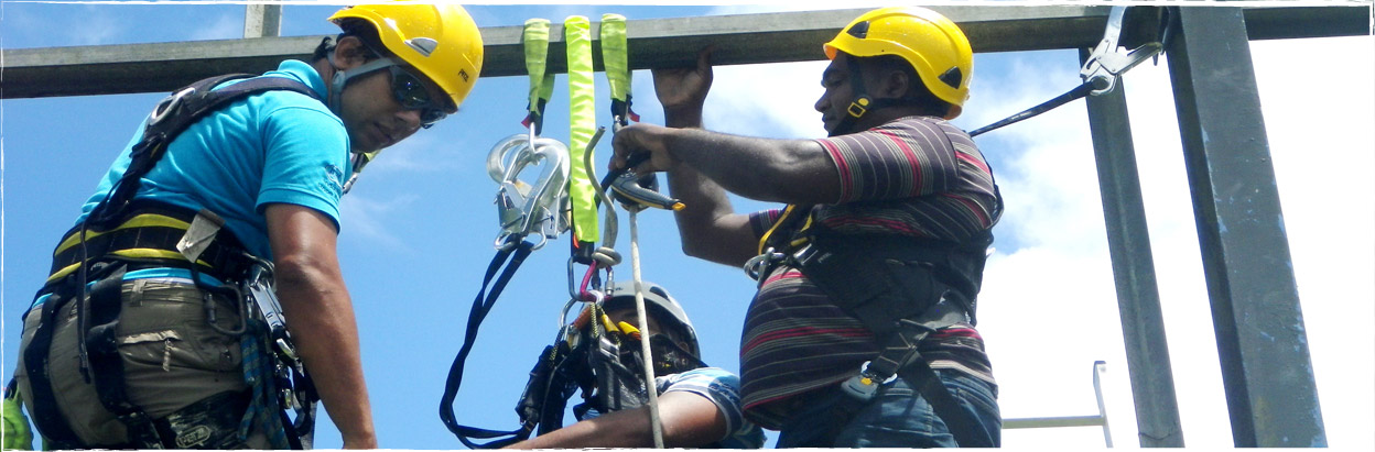 The training and consultancy specialits for Rope Access in Mauritius